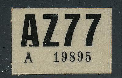 26 - Arizona 1977 License Plate Sticker, Unused!
