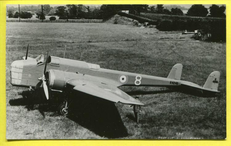1936-45 RAF Handley Page HP.52 Hampden Bomber Photo Real Photographs Co Ltd