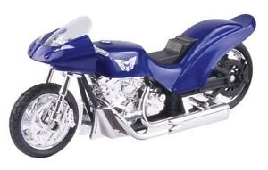 Diecast-1-18-Drag-Bike-Blue-Motorcycle-MotorMax-Model-Die-Cast-Bike-M491