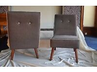 2 X John Lewis grey G Plan Vintage Chairs