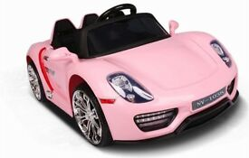 PORSCHE KIDS RIDE ON ELECTRIC CAR BRAND NEW PINK