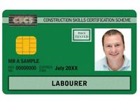 FREE CSCS Green Labourers Card (Funded by SDS ITA) Health & Safety Course