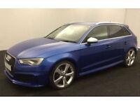 Blue AUDI RS3 SPORTBACK 2.5 T FSI Petrol QUATTRO S-T FROM £147 PER WEEK!