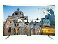 "Panasonic 55"" curved 4k UHD smart tv Wi-Fi HD freeview like new in box"