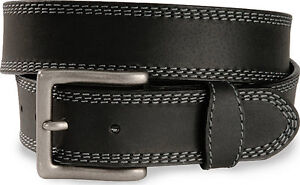 Wrangler Mens OIL TANNED LEATHER WESTERN BELT & Wrangler BUCKLE - Black- Size 36
