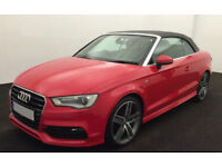 Red AUDI A3 Convertle CABRIOLET 1.8 2.0 TDI Diesel S LINE FROM £45 PER WEEK!