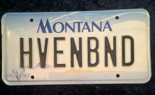 MONTANA VANITY PERSONALIZED LICENSE PLATE HEAVEN BOUND AFTERLIFE GODS SPIRITS