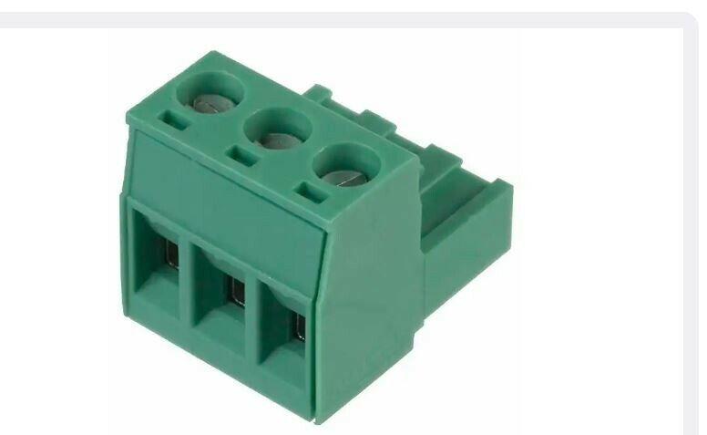 "(10) 1757022, PHOENIX,3 Pos Terminal Block Plug, Female Sockets 0.200"" (5.08mm)"