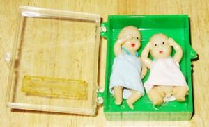Poupées miniature en Celluloid  Miniature Dolls