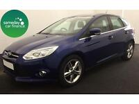£182.64 PER MONTH BLUE 2014 FORD FOCUS 1.6 TITANIUM X 5 DOOR DIESEL MANUAL