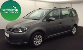 £192.39 PER MONTH GREY 2012 VW TOURAN 1.6 TDI BMT S 7 SEAT DIESEL MANUAL