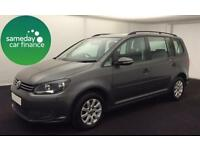 £192.39 PER MONTH GREY 2012 VW TOURAN 1.6 TDI BMT S 7 SEAT DIESEL MANUAL
