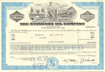 The Standard Oil Company   gas service station bond certificate stock share