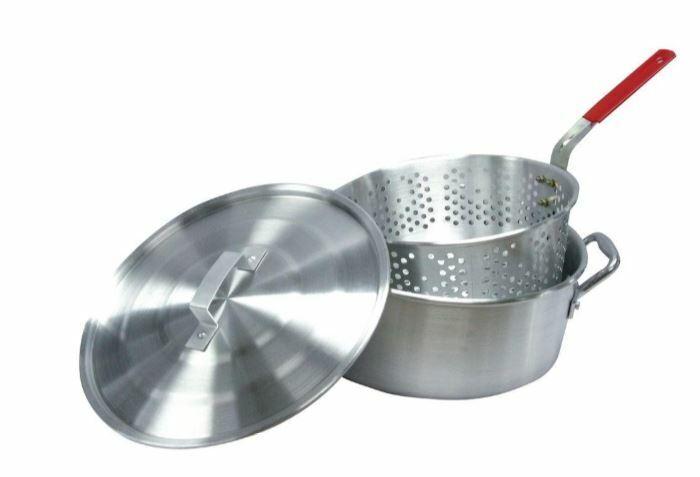 Potato Fish Fryer Pot Strainer Basket Outdoor Cooker BBQ Tai