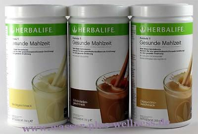 Geschmack Diät (NEU 3x Herbalife Shake F1 - 3x 550g. Geschmack freie Auswahl (1000g - 66,7€)Diät)