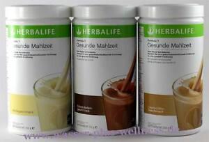 3x Herbalife Shake F1 - 3x 550g. Geschmack freie Auswahl (1000g - 72,12€) Diät