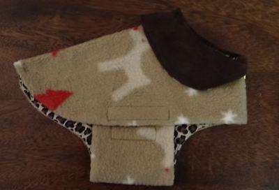 Christmas Holiday Fleece Dog Coat XS Size By Bark Avenue Originals ()