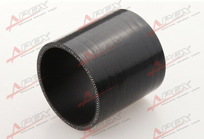 "3 Ply 1.25"" Inch Straight Hose 70mm Turbo Silicone Coupler Pipe Black"