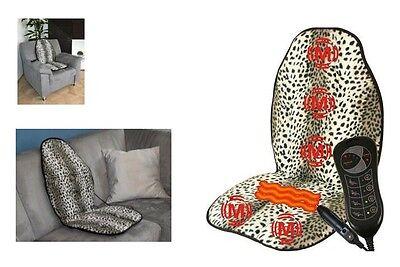 Massagematte + Wärme Wärmetherapie Massager, 12V Adapter Hydas gepunktet Leopard