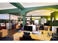 Ground floor open plan modern city center office with car park, fibre and cat6 cabling