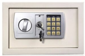 Small safe with key