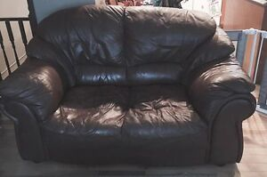 100% Leather Love Seat