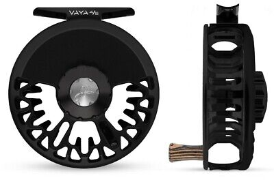 Used, NEW ABEL VAYA 4/5 DISC DRAG #4/5 WEIGHT FLY REEL IN BLACK WITH ZEBRA WOOD HANDLE for sale  Shipping to Canada