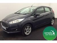 ONLY £138.01 PER MONTH GREY 2013 FORD FIESTA 1.2 ZETEC 5 DOOR PETROL MANUAL
