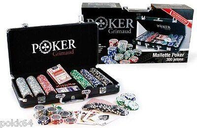 Mallette De Poker 300 Jetons Grimaud Malette + 2 Jeux De Cartes + Bouton Dealer-