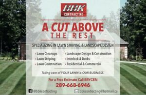 BBK Contracting for all your lawn care and landscape solutions!