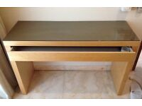 Ikea malm dressing table & chair bedroom make up