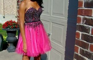 Alyce Hot Pink Grad/Prom/Special Occasion Dress London Ontario image 1