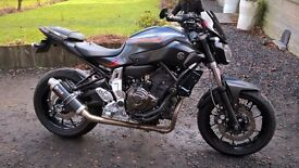yamaha mt07 2014 cat C 7500miles 1yrs MOT oil & filter just changed ready for the year