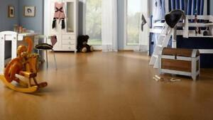 Warm up your cold basement by 7-15 degrees Celsius with cork flooring and cork underlayment.