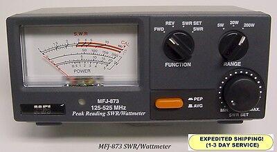 MFJ 873 Grandmaster SWR & Wattmeter, 125-525 MHZ, 5 - 20 - & 200 Watt Range NEW
