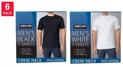 Kirkland Signature Men's Short Sleeves Crew Neck Tee 6-pack