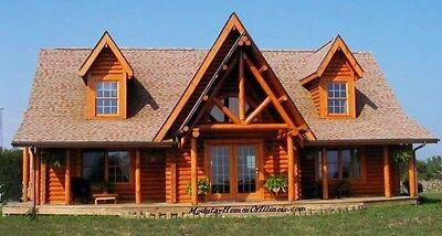 Modular Log Home. Cape Cod. 2 Dormers Log Siding With Full Log Corners Included