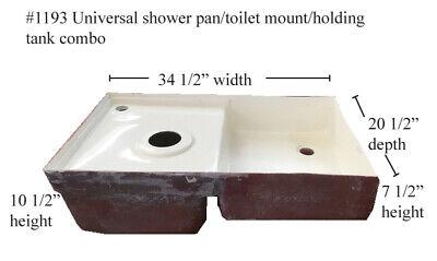 Universal RV shower pan/toilet mount/tank Fiberglass #1193  Polar White 34x20