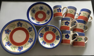 20-piece assorted dinnerware - floral accents