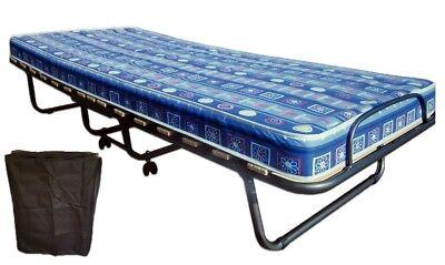 Premium Gästebett auf 4 Rollen Klappbett Gästeliege klappbar NEU Matratze 10cm