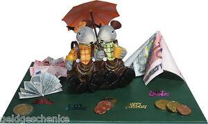 Ein paar Mäuse zum Geburtstag Geldgeschenk Rettungsschirm -18.25.30.40.50.60.70-