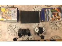 PlayStation 2 Slim | Two Controllers | Games Bundle |