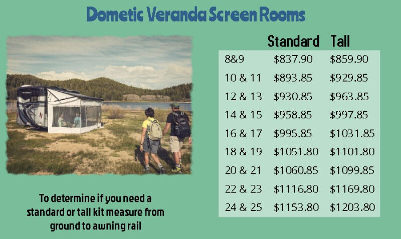 Dometic Veranda Screen Room Enclosures for your RV Awning ...