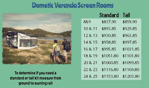 Dometic Veranda Screen Room Enclosures for your RV Awning