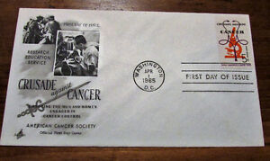 1965 'Crusade Against Cancer' 5 Cent First Day Cover Kitchener / Waterloo Kitchener Area image 2