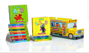 Sesame Street board books in bus