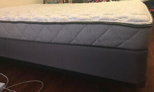 Double Bed: Mattress, Box Spring, Metal Frame