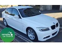 £199.75 PER MONTH WHITE 2011 BMW 320D 2.0 M SPORT 4 DOOR DIESEL AUTO