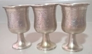 Jacob Grimminger Sterling Silver Cordial Cups/ Shot Glasses