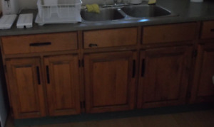 Looking for Kitchen Cabinets. 7 to 8 foot base + upper cabinets.